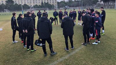 Abschlusstraining vor dem Test gegen Zenica