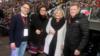 Austria-Präsident Ivica Peric mit Landeshauptmann- Stellvertreterin Dr. Prettner, Bürgermeisterin Dr. Mathiaschitz und Landessportdirektor Arthofer