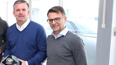 Austrias Sportlicher Leiter Matthias Imhof und Präsident Ivo Peric
