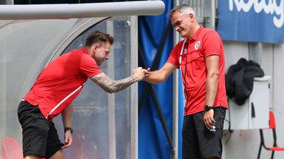 Co-Trainer Martin Lassnig und Chefcoach Robert Micheu