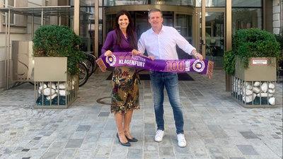 """Sandwirth""-Chefin Helvig Eva Kanduth und Austria-Sportdirektor Matthias Imhof"