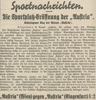 Sportplatzeröffnung 1937 100 Jahre