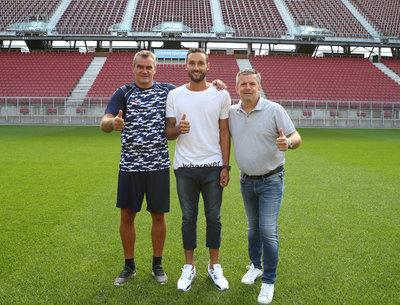 Robert Micheu mit Markus Pink und Matthias Imhof