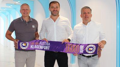 Gesellschafter Zeljko Karajica (M) mit den Geschäftsführern Harald Gärtner (l.) und Matthias Imhof