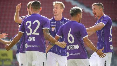 Die Spieler der Austria Klagenfurt wollen wieder jubeln