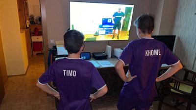 Austria-Kids beim digitalen Training