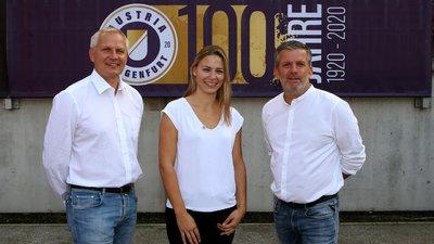 Die Geschäftsführer Harald Gärtner (l.) und Matthias Imhof (r.) mit Club-Managerin Vanessa Korb