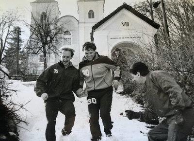 Walter Ludscher beim Training am Kreuzbergl