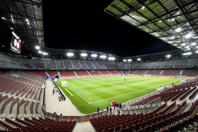 Das Wörthersee-Stadion in Klagenfurt