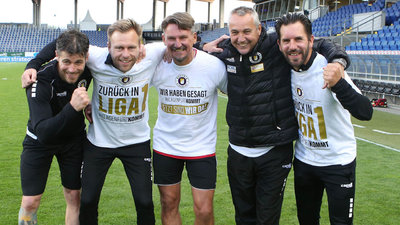 Manuel Trattnig, Martin Lassnig, Thomas Lenuweit, Peter Pacult und Sandro Zakany bleiben das Trainer-Team.