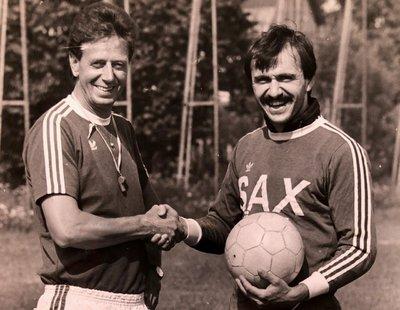 Ewald Türmer mit Trainer Walter Ludescher