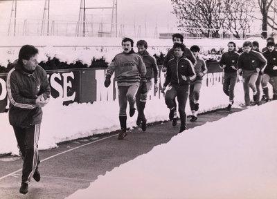 Ewald Türmer beim harten Wintertraining