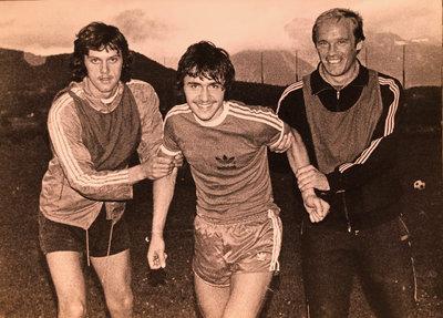 Ewald Türmer mit Arnold Koreimann und Pepe Larionows
