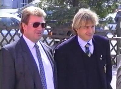 Jürgen Klinsmann und Präsident Wetzl