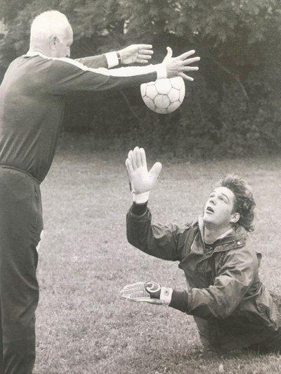 Alexander Philipp beim Training mit Walter Rath