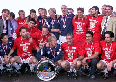 2001 jubelte der FC Kärnten über den Bundesliga-Aufstieg - und noch viel mehr.