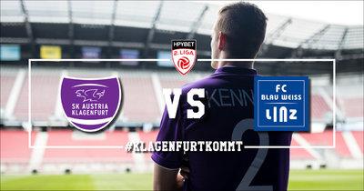 Austria Klagenfurt vs. Blau-Weiß Linz