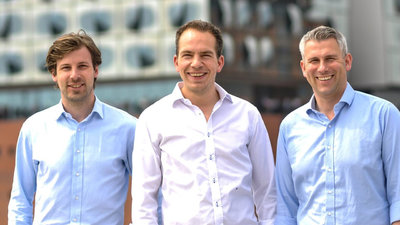 Vorstände Exporo AG_Julian Oertzen, Simon Brunke, Dr. Björn Maronde (v.l.)