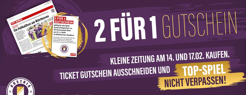 """2 für 1-Coupon in der """"Kleinen Zeitung"""""""
